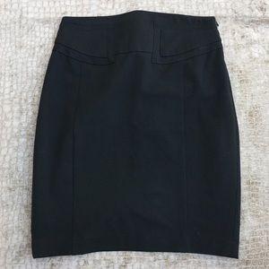 Express Black Midi Skirt